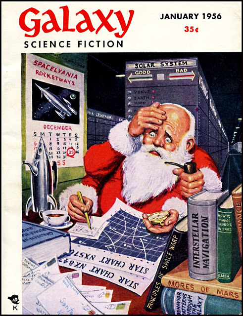 Galaxy Magazine - January 1956 - cover by Ed Emishwiller