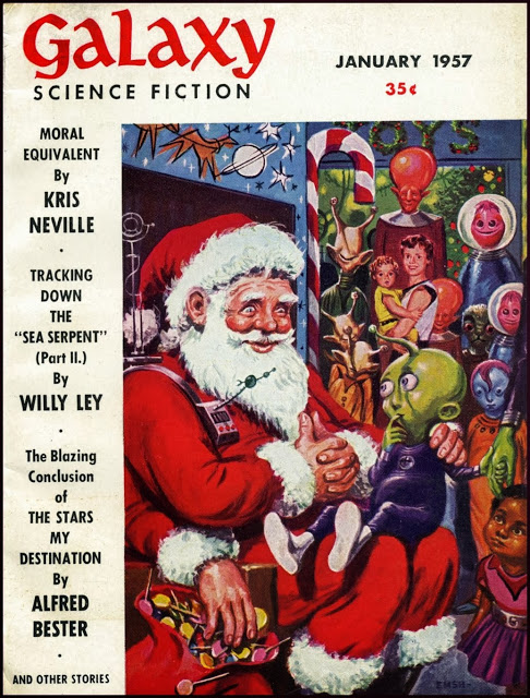Galaxy Magazine - January 1957 - cover by Ed Emishwiller