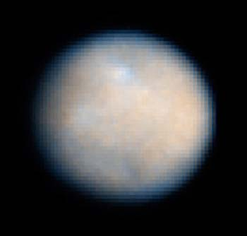 Asteroid Ceres as seen by the Hubble space telescope. Image credit NASA/ESA/STScI.