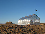 The Arthur C. Clarke Greenhouse. Click on this picture to view more images from the Mars Institute Web Site.