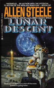 Cover for Lunar Descent - Copyright &copy 1991; Ace Books, All Rights Reserved. Art by Bob Eggelton.