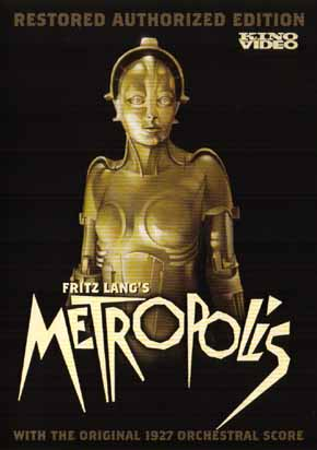 Cover for the new restoration of Metropolis.