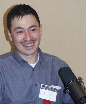 Pascal Lee during his Hour 25 interview.  Picture Copyright © 2002 by Suzanne Gibson.  All Rights Reserved.