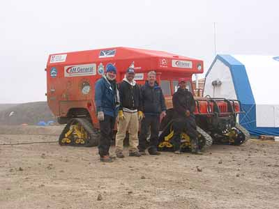 The rover at the Houghton Mars Project Base Camp.  (Photo NASA Haughton-Mars Project 2003/K. Cowing) Click to see more.