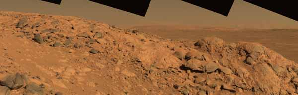 From a view to a hill.  Color.  Image credit NASA/JPL.