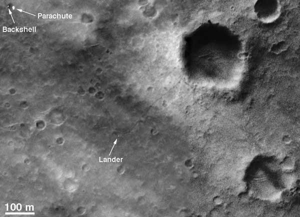 Spirit traverse path.  Image credit NASA/JPL.