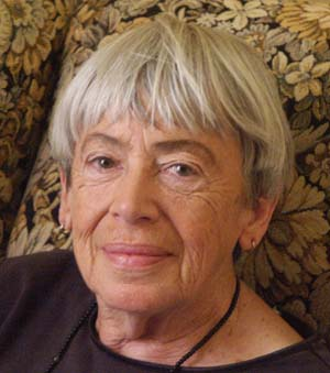Ursula K. Le Guin during her Hour 25 interview.  Picture Copyright © 2003 by Warren W. James.  All Rights Reserved.